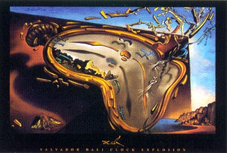 Clock Explosion by Salvador Dali