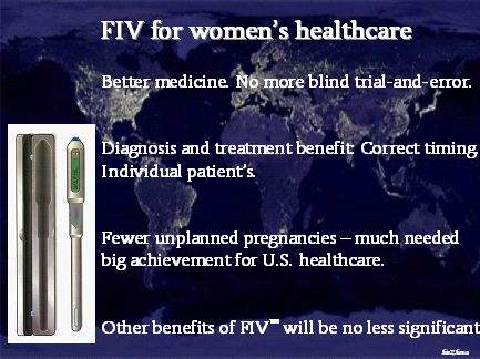 FIV for women's healthcare - the vision (from Space perspective)