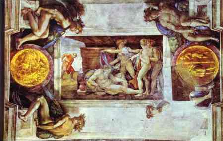 Michelangelo - The Drunkenness of Noah