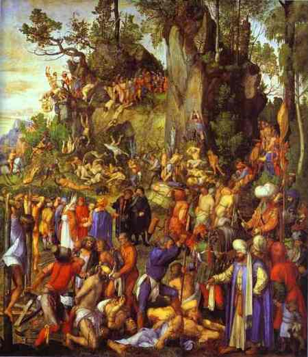Albrecht Durer - The Martyrdom of the Ten Thousand. AD 1508