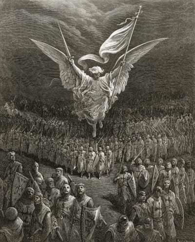 An Angel Leading the Crusaders to Jerusalem - Gustave Doré (1832 - 1883)