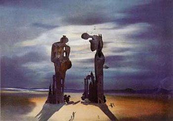 Reminiscence Archeologique De L'angelus by Salvador Dali
