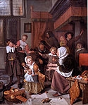 Jan_Steen_Het_Sint_Nicolaasfeest, The Feast of St. Nicholas