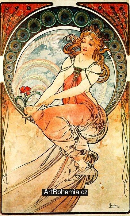 Alfons Mucha, Malířství