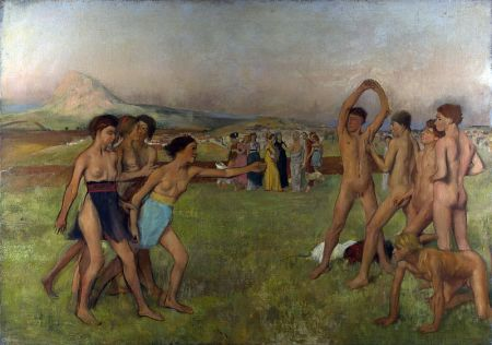 Edgar Degas - Young Spartans Exercising, circa 1860