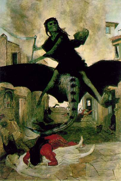 The Plague by Arnold Böcklin, 1898