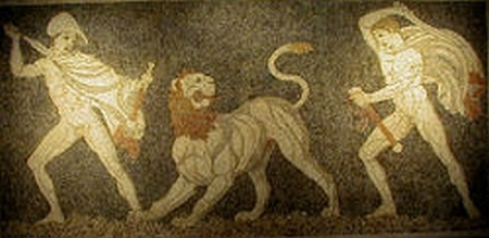 Lion_Hunt_Mosaic in Pella
