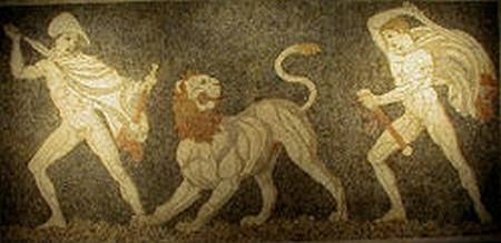 Lion_Hunt_Mosaic in Pella