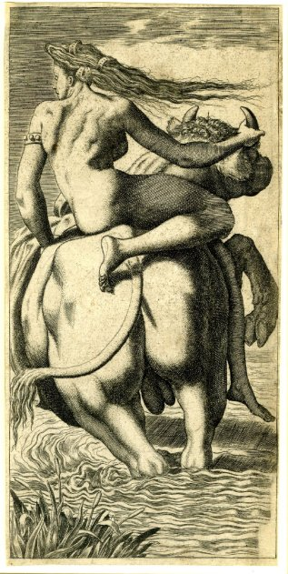 René Boyvin, The rape of Europa, c. 1545-55
