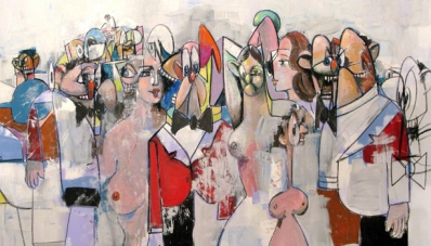 George Condo - Field of Figures