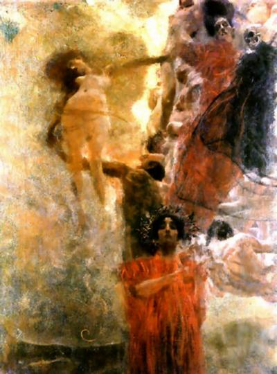 Gustav Klimt - Medicine mural (complete view)