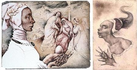 MARINA RICHTEROVÁ - Golgota, Hommage a P. Bruegel, 1998 and The Juliet, 2000