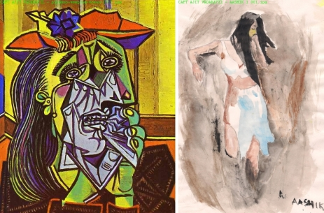 CAPT. AJIT VADAKAYIL's two images of stressed out women
