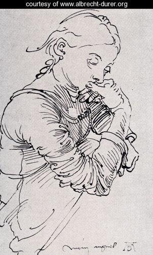 Durer's Wife Agnes by Albrecht Durer, about 1494