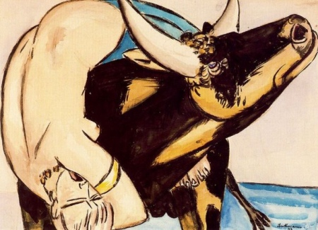 Max Beckmann, The rape of Europa, ca. 1933