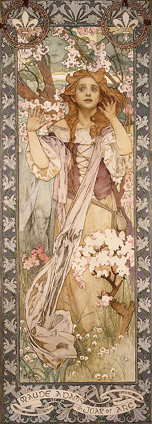Alfons Mucha - Maude Adams as Joan of Arc, 1909