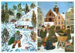 Josef Lada's idyllic take on Christmas activities