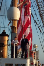 Boatswain is piloting the Eagle to the dock
